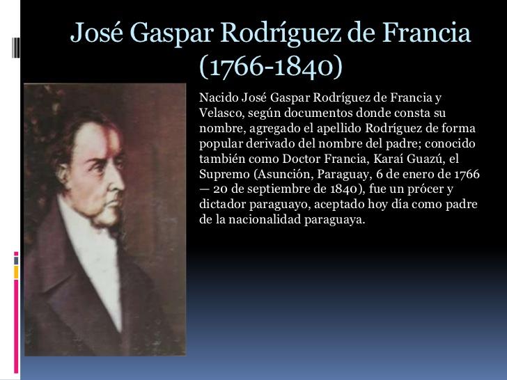 Gaspar Rodríguez de Francia va